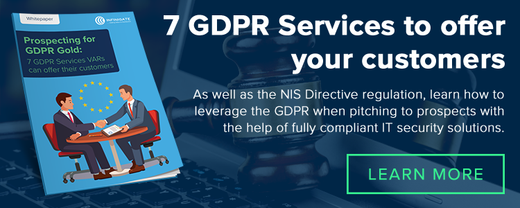 7 GDPR Services VAR's can offer their customers
