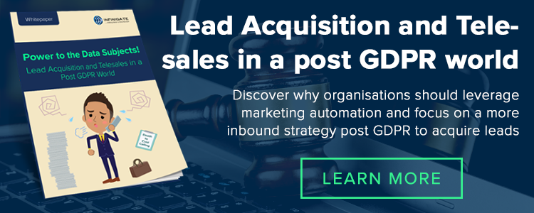 Lead Acquisition Marketing Automation Post GDPR
